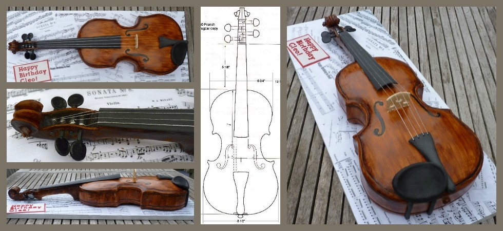 violin slider collage